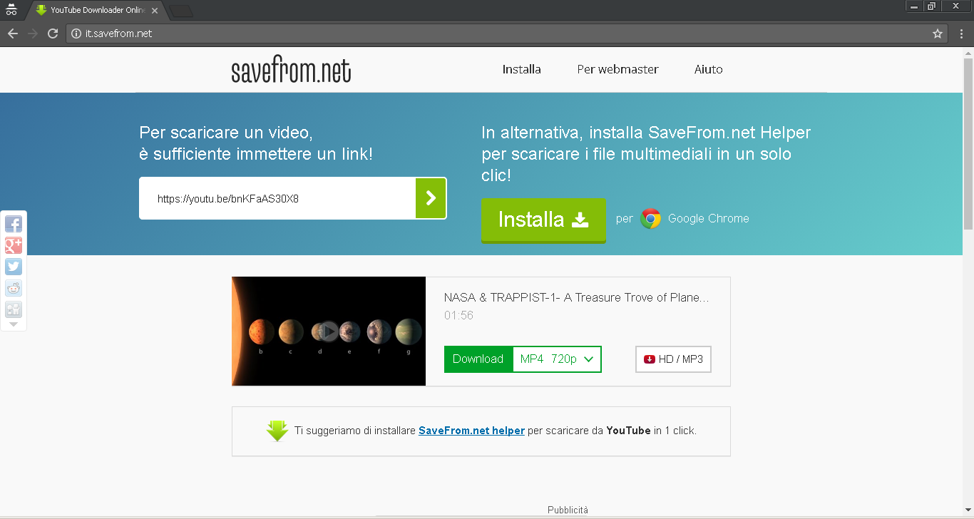 download mp3 youtube senza programma